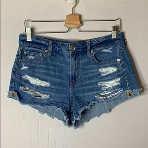 AE Tomgirl Shortie Distressed Cutoff Jean Shorts